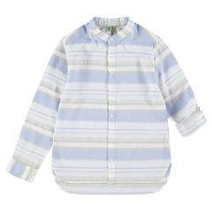 Júnior - Camisa de manga larga de rayas en contraste