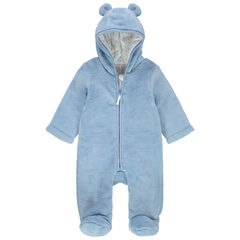 Mono de borreguillo azul con capucha y orejas con forro de punto  , Orchestra