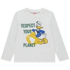 Camiseta manga larga de algodón orgánico Donald Disney , Orchestra