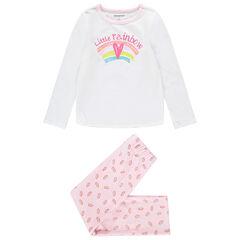Pijama de terciopelo con estampado de arcoíris