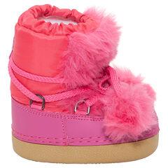 Zapatillas de colores fluorescentes y pelo falso