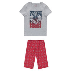 Júnio - Pijama de punto con estampado estilo deportivo