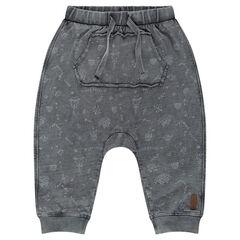 Pantalón de jogging de muletón ligero con estampado all over