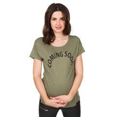 Camiseta premamá de manga corta con mensaje