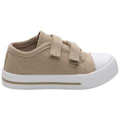 Zapatillas beige de tela con velcros de la 24 a la 35