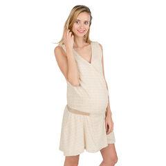 Vestido premamá sin mangas con cintura elástica