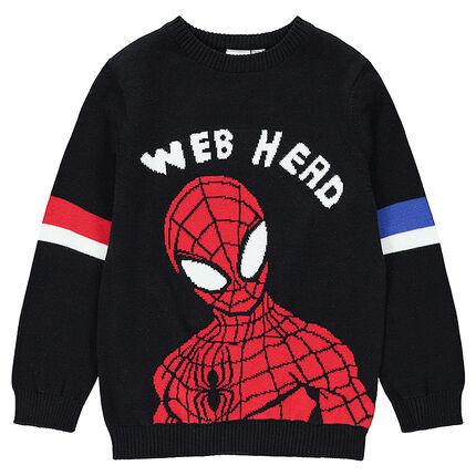 Jersey de punto con ©Marvel Spiderman de jacquard