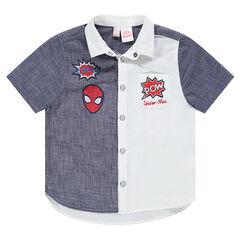 Camisa de manga corta bicolor con parches bordados ©Marvel Spiderman