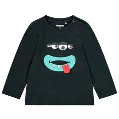 T-shirt manches longues à motif ludique pour enfant garçon , Orchestra