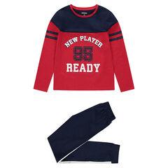 Júnior - Pijama de punto bicolor con estilo deportivo