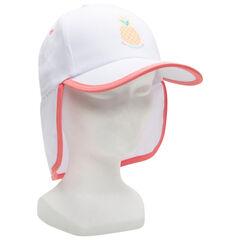 gorra con proteccion cuello y print ananas