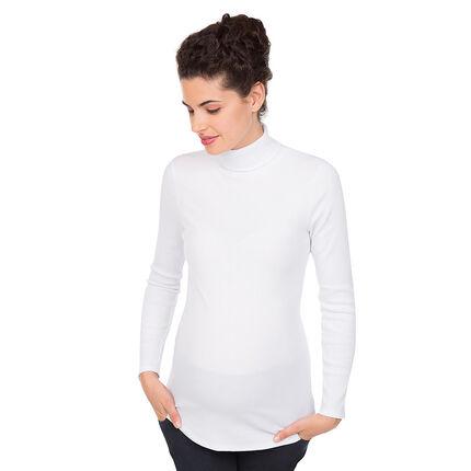 8bffb02c9 Camiseta de premamá de cuello alto de canalé - Orchestra ES