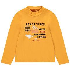 Camiseta interior lisa con estampado de fantasía