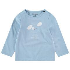 Camiseta de manga larga de punto con dibujo estampado