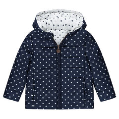 Anorak reversible con lunares all-over