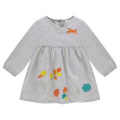 Vestido de algodón de fantasía con dibujos de colores