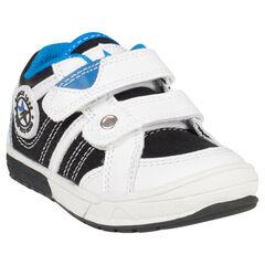 Zapatillas de deporte de caña baja con velcro con detalle de goma