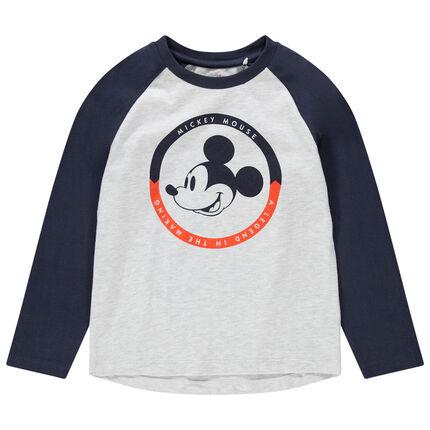 Camiseta de manga larga con estampado de Mickey Disney