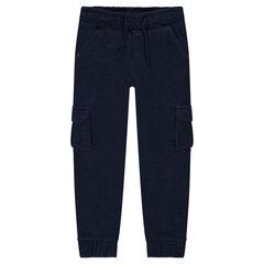 Pantalón de jogging de muletón con bolsillos