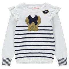Jersey de punto de estilo marinera con Minnie de lentejuelas mágicas ©Disney