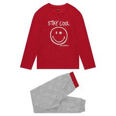 Júnior - Pijama de punto con estampado ©Smiley fluorescente