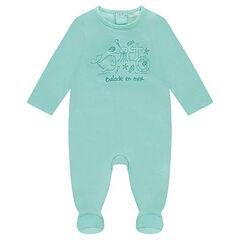 Pijama de punto con animales acuáticos estampados
