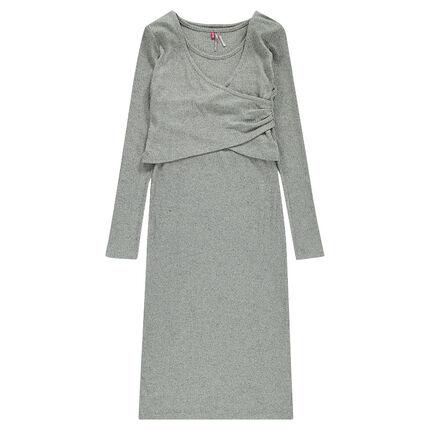 Júnior - Conjunto de vestido largo y torera
