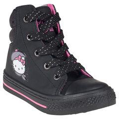 Zapatillas de deporte de caña alta Hello Kitty abertura con cremallera y con cordones