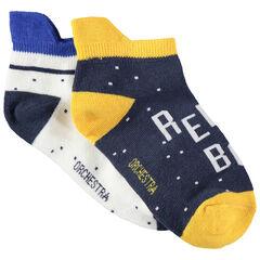 Juego de 2 pares de calcetines variados con protección trasera