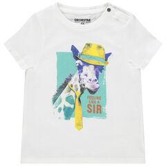 T-shirt manches courtes en coton bio print animal
