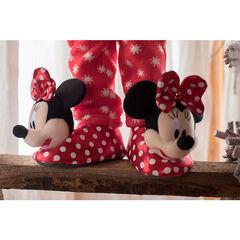 Pantuflas de peluche de Disney Minnie con lunares de la 24 a la 27