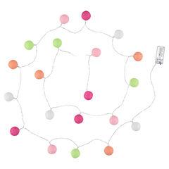 Guirnalda luminosa con leds y bolas que contrastan