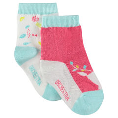 Juego de 2 pares de calcetines variados con motivo de fantasía
