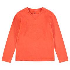 Júnior - Camiseta de manga larga de punto con tigre bordado por delante
