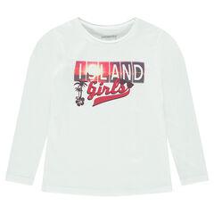 Camiseta de manga larga lisa con estampado de fantasía