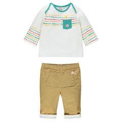 Conjunto de camiseta y pantalón
