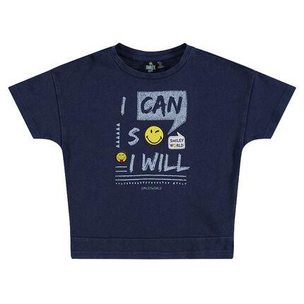 Camiseta de manga corta con inscripciones y parches ©Smiley