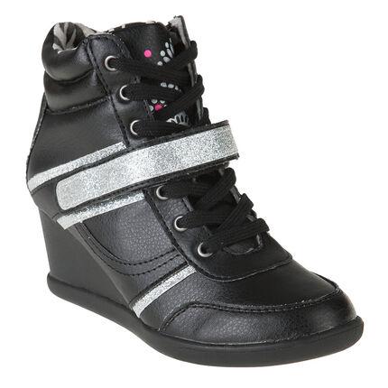 Zapatillas de deporte con suela plataforma con cordones con velcro