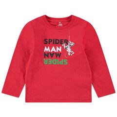 Camiseta de manga corta de punto con mensaje y estampados ©Marvel Spiderman