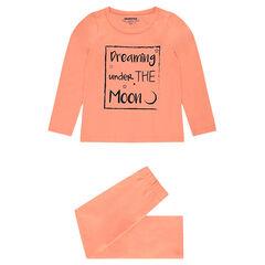 Pijama de punto con mensaje estampados