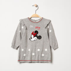 Vestido de manga larga de punto con bordados de Minnie Disney