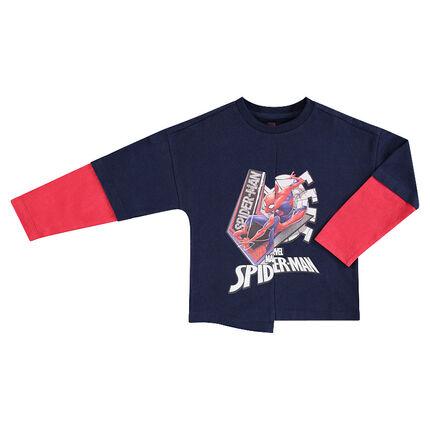 Camiseta de manga larga efecto 2 en 1 con estampado de Spiderman de ©Marvel