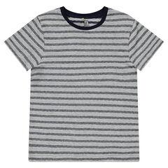 Júnior - Camiseta de manga corta a rayas de fantasía.