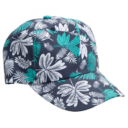 Visera de algodón con estampado tropical all over