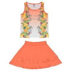 Júnior - Conjunto de playa con camiseta sin mangas y falda