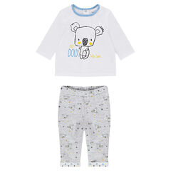 Pijama de punto con koalas estampados
