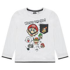 Camiseta de punto de manga larga con personajes de Super Mario™ estampados
