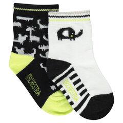 Juego de 2 pares de calcetines variados con dibujos de animales