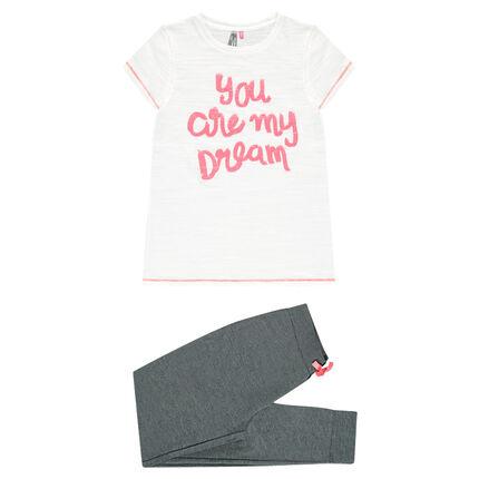Júnior - Pijama con mensaje de fantasía