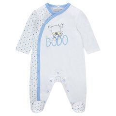 Pijama de punto con koala estampado y estrellas